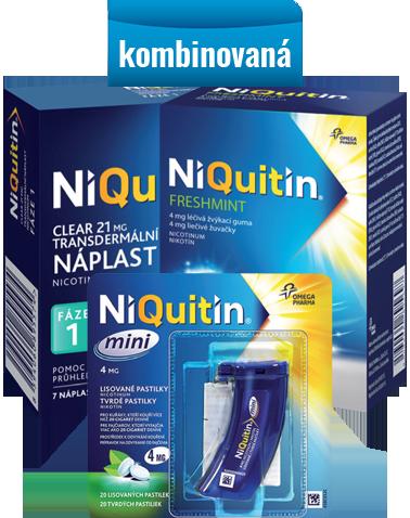 Niquitin – kombinovaná terapie