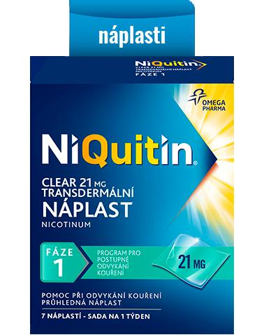 NiQuitin Clear – transdermální náplasti