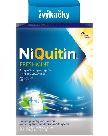 Niquitin Freshmint – léčivé žvýkací gumy